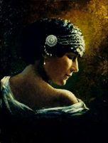 Portrait de Sarah Bernardt by Georges Jules Victor Clairin