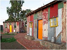 Looking for Bloemfontein Accommodation? Shanty Town at Emoya offers luxury accommodation in Bloemfontein. Facilities include Restaurant, Spa, Wildlife, etc The Shanty, Building Photography, Metal Siding, Beach Shack, Cabin Design, Slums, Hotel Spa, Steel Frame, Shed