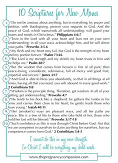 10 Scriptures for New Moms