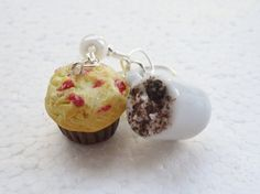 Hot Chocolate and Muffin Earrings