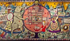 Grayson Perry's tapestry at the British Museum from the exhibition I never got to see (sniff) Grayson Perry Tapestry, Museum Displays, Political Art, Large Painting, British Museum, Textile Art, Lovers Art, New Art, Street Art