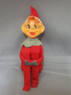 Vintage 1950s Delta Small Knee Hugger Pixie Elf Christmas Ornament Made Japan  #Delta