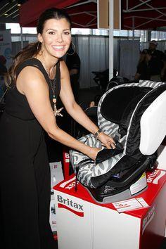 Celeb mom Ali Landry checks out baby gear at New York Baby Show
