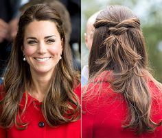 Kate Middleton wears the half-up, half-down hairstyle in Australia.