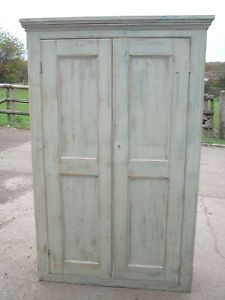 Victorian painted pine pantry.