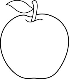 Black and White Apple Outline Animals Black And White, Clipart Black And White, Black And White Pictures, Apple Clip Art, Apple Art, Letter A Coloring Pages, Coloring Books, Apple Outline, Norwex Window Cloth