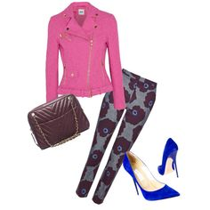 A fashion look from March 2015 featuring Moschino Cheap & Chic jackets, Topshop pants and Jimmy Choo pumps. Browse and shop related looks.