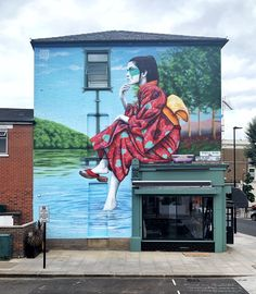 Murals Street Art, Street Art Graffiti, Graffiti Artwork, Banksy, Irish Painters, Urbane Kunst, Geisha Art, London Street, Art Graphique