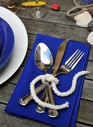 beach wedding showers | sea ... Nautical table decor ... Summer beach or lake party
