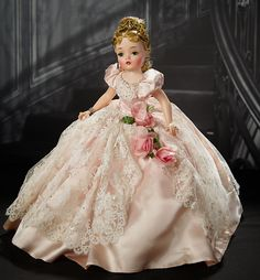 Stunning American Portrait of Cissy, Series, Likely a Special Commission Doll Old Dolls, Antique Dolls, Vintage Dolls, Vintage Madame Alexander Dolls, Barbie, Satin Gown, Beautiful Dolls, Fashion Dolls, American Girl