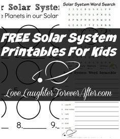 FREE Solar System Printables For Kids