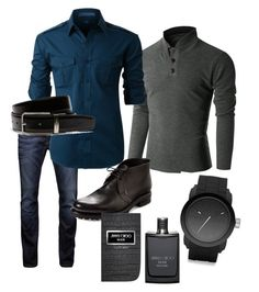 """casual men fashion"" by pachingarcia ❤ liked on Polyvore featuring Jack & Jones, Doublju, LE3NO, Harrys of London, Diesel, Lacoste, Jimmy Choo, men's fashion and menswear"
