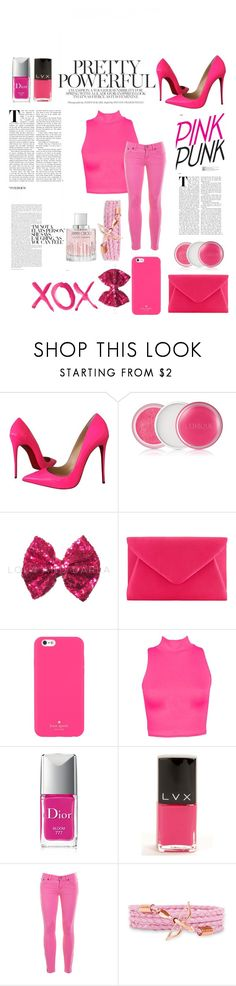 """Pink- Contest"" by missemmaleigh20 ❤ liked on Polyvore featuring Christian Louboutin, Clinique, GALA, John Lewis, Kate Spade, Christian Dior, LVX, J.Crew and Jimmy Choo"
