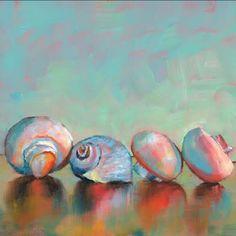 Brenda ferguson Pastel Landscape, Art Journal Inspiration, Impressionist, Sea Shells, Still Life, Artsy, Horses, Fine Art, Canvas