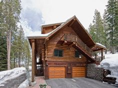 10 Design Ideas for Woody  Houses. See a Model 44 classic raised panel stained wood garage door at www.clopaydoor.com.