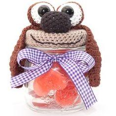 Haakpatroon Muppet Rowlf cadeaupotje bij de Breiboerderij