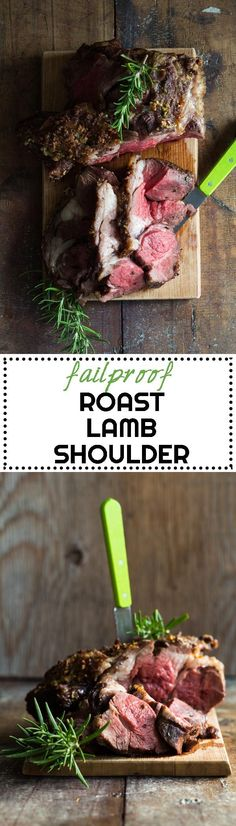 The easiest and best Roast Lamb Shoulder you will make in your life! All you need to know for a failproof attempt on roasting lamb shoulder. via @greenhealthycoo