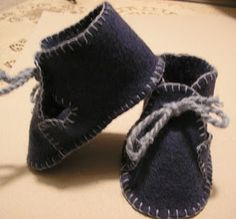 felt baby shoes - pattern