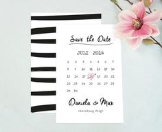 Hochzeitskarte+/+Save+the+Date+/+Kalender+/+PDF+von+EULENSCHNITT+auf+DaWanda.com