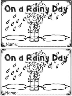 """On a Rainy Day"" (A Spring Emergent Reader Dollar Deal) Kindergarten Reading, Kindergarten Classroom, Kindergarten Activities, Rainy Day Activities, Reading Activities, Activity Books, Reading Stations, Reading Centers, Preschool Printables"