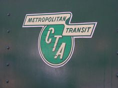 Chicago Transit Authority (CTA) logo on vintage train at Illinois Train Museum