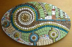 Welcome to my world of self-expression through the art of ceramic mosaic. Mosaic artwork by Julie Smith. Mosaic Tile Art, Mosaic Artwork, Mosaic Diy, Mosaic Crafts, Mosaic Glass, Stained Glass, Fused Glass, Mosaic Madness, Recycled Art