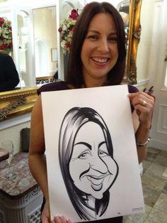 Grange Over Sands wedding day caricatures