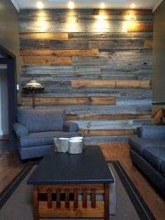 Cozy Modern Rustic Living Room Decor Ideas You Must Try 05 Living Room Color Schemes, Living Room Colors, Living Room Decor, Living Rooms, Pallet Accent Wall, Accent Walls, Wall Accents, Grey Walls, Room Wall Colors