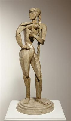 Jacques Lipchitz, Girl with braided, 1914, Plaster, Museum of Fine Arts, Cambrai, France