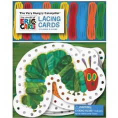 Hungry Caterpillar lacing cards.