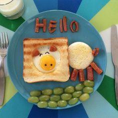 Creative food art! http://www.langweiledich.net/kreative-fruehstuecks-arrangements/