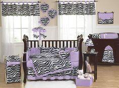 JoJo Designs 9 Piece Baby Girl Crib Bedding Set – Pink, Black and White Funky Zebra Print: baby bedding pink zebra Zebra Bedding, Zebra Nursery, Girl Crib Bedding Sets, Baby Zebra, Girl Cribs, Crib Sets, Baby Cribs, Girl Nursery, Nursery Bedding