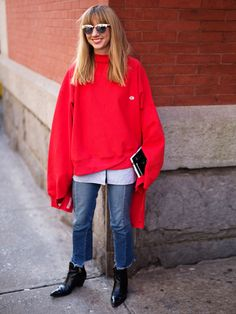 Unser stylisher Look of the Day mit Champion Sweater | Stylight