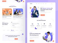 Cobham Landing Page Concept by Rizal Gradian 🐳 for Vektora on Dribbble Landing, Medical, Concept, How To Plan, Website, Ui Ux, Ux Design, Product Design, Digital