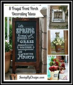 Get your front porch (or any outdoor area really) ready with these creative frugal ideas!