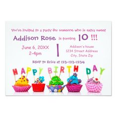 435 Best Colorful Birthday Party Invitations Images In 2019