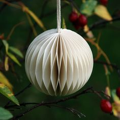 Plain white paper baubles | Pack of 3 for £8 | Stylish, tasteful Christmas decorations
