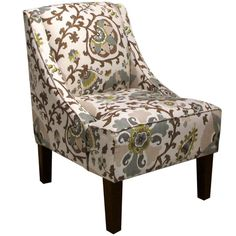 Skyline Furniture Skyline Silsila Rhinestone Swoop Arm Chair