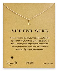 Designed as a reminder of good karma and good energy, the Dogeared Surfer Girl Shark Tooth Necklace......Price - $56.00-IiIaHT9C