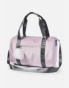 Justice is your one-stop-shop for on-trend styles in tween girls clothing & accessories. Shop our Shimmer Logo Duffle Bag. Justice Bags, Gymnastics Bags, Cute Suitcases, School Bags For Girls, Girls Gym Bag, Unicorn Fashion, Kids Luggage, Brown Bags, Luxury Bags