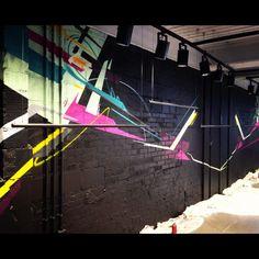 Client: DKNY Bond Street London  Shop interior graffiti design  Abstract