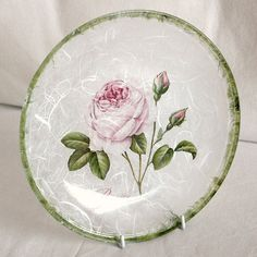 glass plate - decoupage