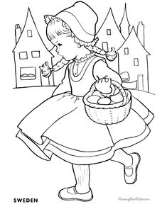 france coloring pages for girls | switzerland coloring pages for kids | Children of Other ...