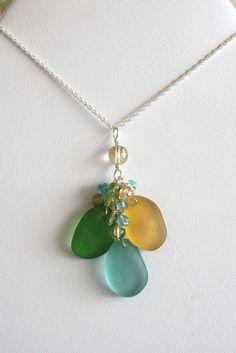 Sea Glass Pendants : Photo #seaglassnecklace
