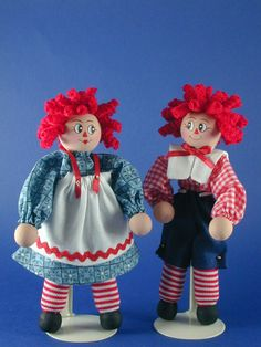 Raggedy Ann Clothespin Doll. $15.00, via Etsy.