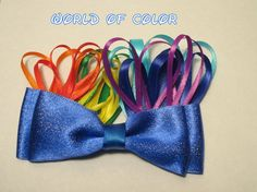 World of Color Hair Bow Disney Inspired by bulldogsenior08 on Etsy, $8.00