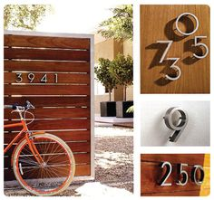 Its the little things that can make all the difference and always make me :) Modern Fence, Mid-century Modern, Modern Homes, Mid Century House, Mid Century Style, Midcentury House Numbers, Metro Retro, Design Your Own Home, Streamline Moderne