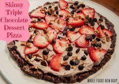{Skinny Triple Chocolate Dessert Pizza}