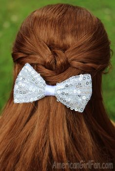 Doll Hairstyle: Pretty Half-Up Twisted Knot!