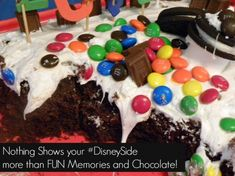 Looking for the best birthday cake idea for your kids?  Let them do it themselves!  I gave my son M&M's, Oreos, Marshmallows, Hersheys Candybars and turned him loose on his cake.  He made the best chocolate and candy cake!